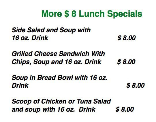 8 lunch specials -more